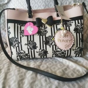 Betsey Johnson Floral Just peachy purse